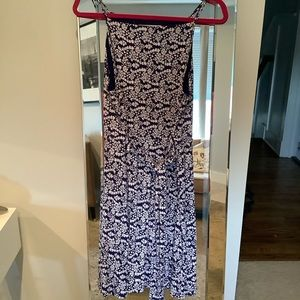 LOFT apron tank dress